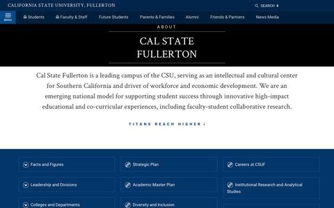 Screenshot of Locations Page fullerton.edu - About | California State University, Fullerton - captured Dec. 2, 2018