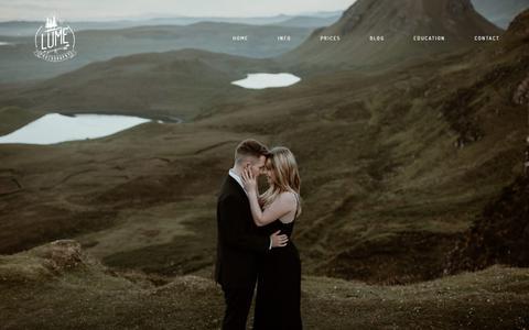 Screenshot of Home Page lumephotography.com - Michigan Wedding Photographer - Lume Photography - captured Nov. 13, 2019