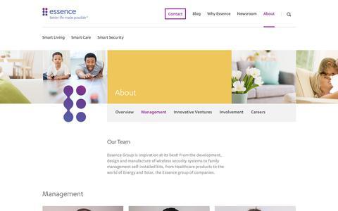 Screenshot of Team Page essence-grp.com - Essence Team - captured Nov. 6, 2018