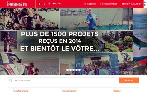 Screenshot of Blog sponsorise.me - Accueil - captured Nov. 4, 2014