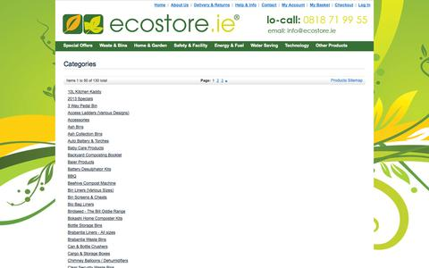 Screenshot of Site Map Page ecostore.ie - Ecostore.ie - captured Oct. 1, 2014