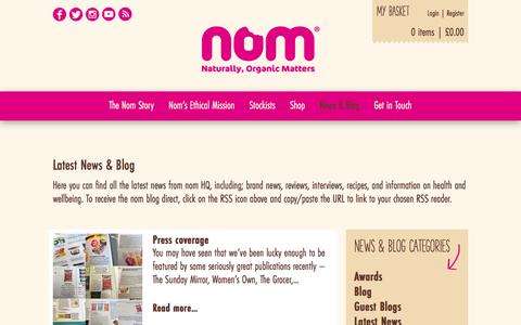 Screenshot of Press Page nomfoods.co.uk - News & Blog | Nom Foods - captured Dec. 2, 2016