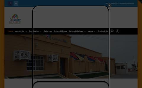 Screenshot of Home Page lin-alkhor.com - Daycare Luxury International – Child care center - captured Sept. 30, 2018
