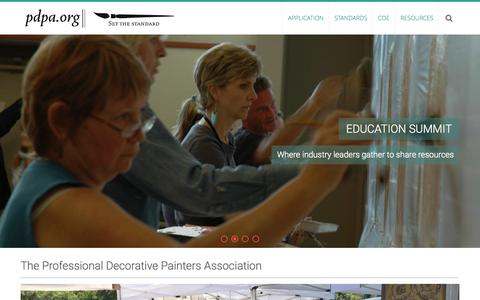 Screenshot of Home Page pdpa.org - The Professional Decorative Painters Association | Setting the standard - captured Oct. 9, 2015
