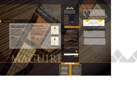 Screenshot of Contact Page maguiresflooring.com - Contact Us | Maguire Flooring - captured Oct. 4, 2014