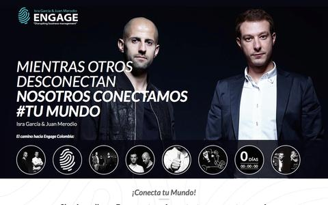 Screenshot of Home Page engage-worldwide.com - Engage - Mientras otros desconectan nosotros conectamos tu mundo - captured Sept. 30, 2014