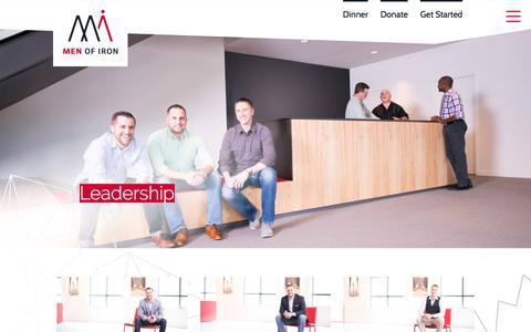 Screenshot of Team Page menofiron.org - Leadership – Men of Iron - captured May 4, 2017