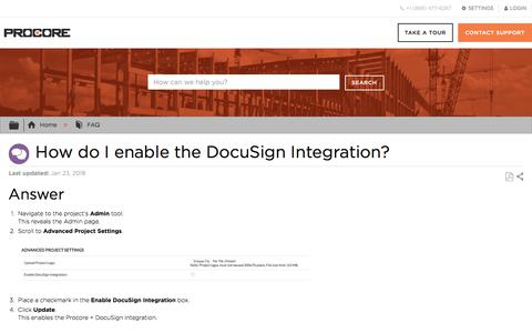 How do I enable the DocuSign Integration? - Procore