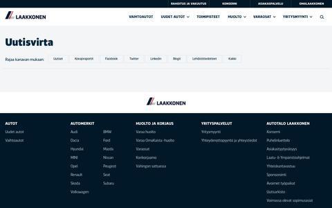 Screenshot of Press Page laakkonen.fi - Uutisvirta | Laakkonen - captured July 12, 2017