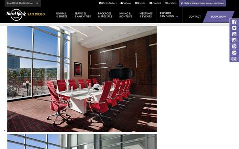 Conference Meeting Rooms in San Diego – Company Event Venues at Hard Rock Hotel San Diego