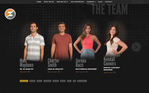 Screenshot of Team Page zeetomedia.com - Zeeto Media - captured Nov. 1, 2014