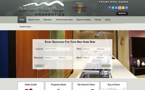 Screenshot of Home Page coloradospringsbesthomes.com - Colorado Springs Best Homes - We are your Colorado Springs Real Estate advocate. If you want to buy Colorado Springs Homes or sell Colorado Springs Houses, we will guide you every step of the way. - captured Oct. 3, 2014