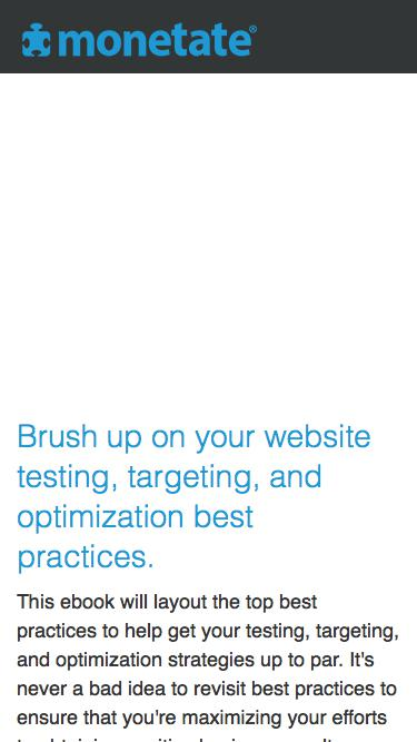 The Top 10 Best Practices for Website Testing, Targeting, and Optimization | Ebook from Monetate