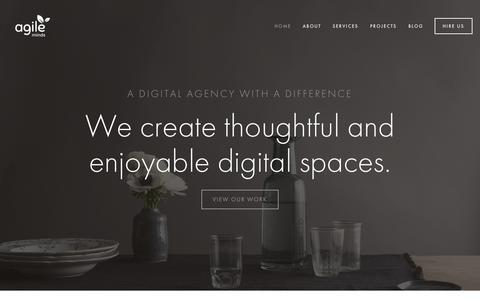 Screenshot of Home Page agileminds.co.uk - AgileMinds - captured June 17, 2015