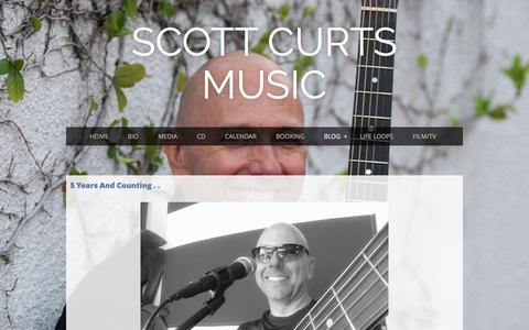 Screenshot of Blog scottcurts.com - Scott Curts Music - Blog - captured Feb. 4, 2016