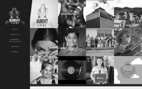Screenshot of Home Page mamuhtcinema.com - Mamuht Cinema - captured Dec. 21, 2015