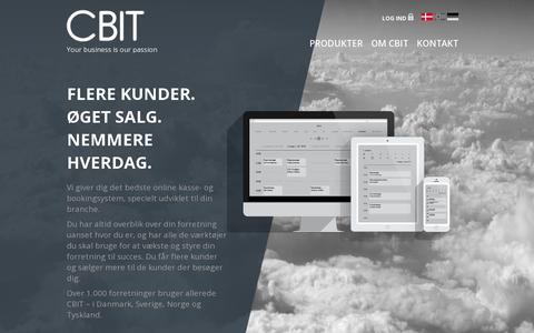 Screenshot of Home Page cbit.dk - CBIT | Your business is our passion - captured July 11, 2014