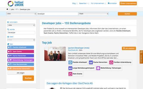 Screenshot of Developers Page feelgood-at-work.de - Developer Jobs | feelgood@work - captured Feb. 18, 2016