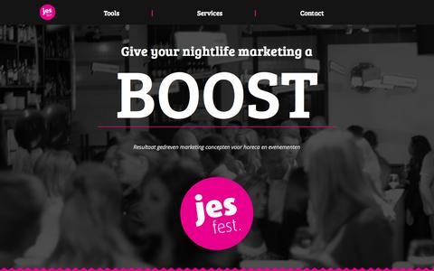 Screenshot of Home Page jesfest.nl - Jes fest - captured Sept. 30, 2014