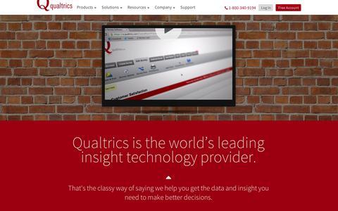 Screenshot of About Page qualtrics.com - Qualtrics | Who We Are - captured Sept. 11, 2014