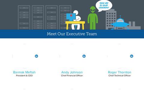 Screenshot of Team Page alienvault.com - Executive Team | AlienVault - captured May 17, 2018