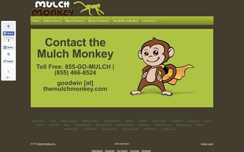 Screenshot of Contact Page themulchmonkey.com - Mulch Monkey | Indianapolis Mulch Delivery |  Indianapolis Mulch | Contact - captured Sept. 30, 2014