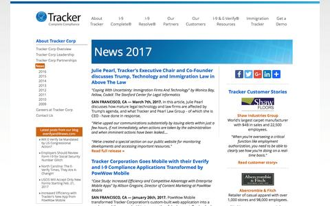 2017 News - I-9 compliance, E-Verify and Immigration Management | Tracker Corp
