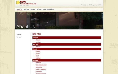 Screenshot of Site Map Page suntechnical.com - Site Map - captured Oct. 3, 2014