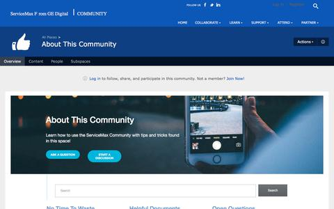 About This Community | ServiceMax Community