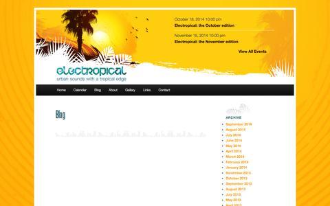 Screenshot of Blog electropical.ca - BlogElectropical - captured Oct. 2, 2014