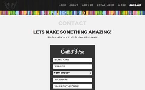 Screenshot of Contact Page echocreative.com - Echo Creative | Contact us! - captured Oct. 28, 2014