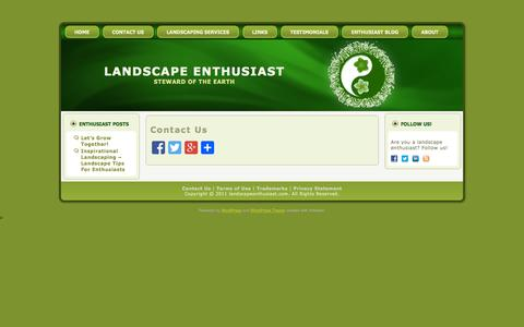 Screenshot of Contact Page landscapeenthusiast.com - Contact Landscape Enthusiast and Caitlin B. Flaherty | Landscape Enthusiast - captured Oct. 1, 2014
