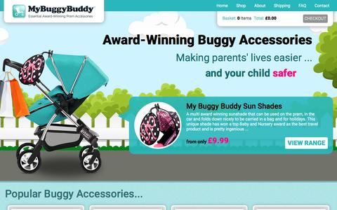 Screenshot of Home Page mybuggybuddy.co.uk - Accessories that clip on to a Buggy or Pram | My Buggy Buddy - captured Dec. 6, 2016