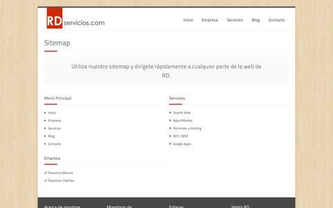 Screenshot of Site Map Page rdservicios.com - Sitemap - RD Técnologias y Servicios S.A.C. - rdservicios.com - captured Sept. 19, 2014