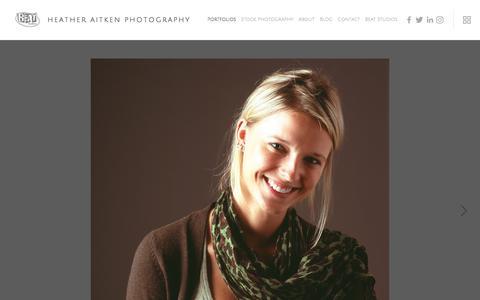 Screenshot of Team Page heatheraitkenphotography.com - Portraits — Heather Aitken Photography - captured Jan. 3, 2018