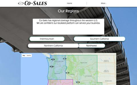 Screenshot of Maps & Directions Page co-sales.com - Regions | Co-Sales - captured Aug. 7, 2017