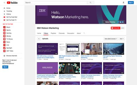 IBM Watson Marketing  - YouTube
