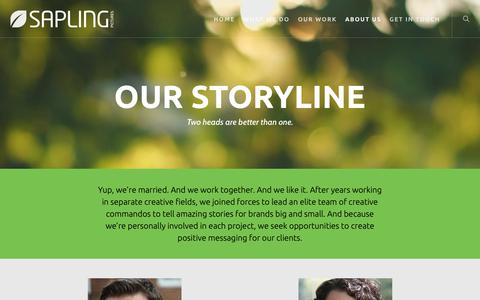 Screenshot of About Page saplingpictures.com - About Us – Sapling Pictures - captured Nov. 5, 2018