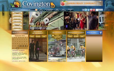Screenshot of Home Page gocovington.com - Home | Covington Ga | Covington Georgia - captured Sept. 23, 2015