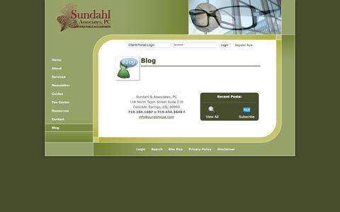 Screenshot of Blog sundahlcpa.com - Colorado Springs, CO Accounting Firm | Blog Page | Sundahl & Associates, P.C. - captured Feb. 25, 2016