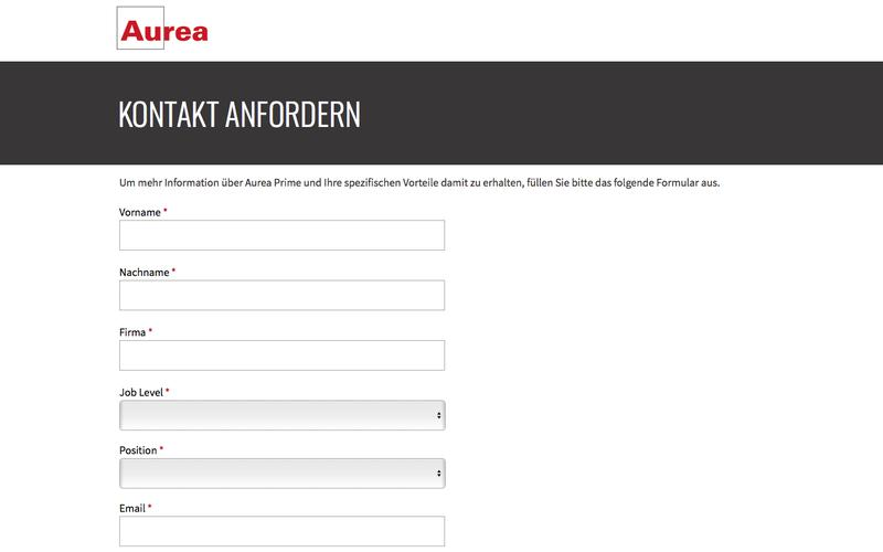 Aurea Prime - Request for Contact | Aurea