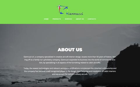 Screenshot of About Page giannuzzisrl.com - About – GIANNUZZI SRL - captured July 18, 2018