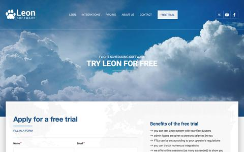 Screenshot of Trial Page leonsoftware.com - Free trial - captured July 18, 2018