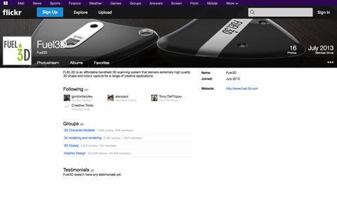 Screenshot of Flickr Page flickr.com - Flickr: Fuel3D - captured Oct. 22, 2014