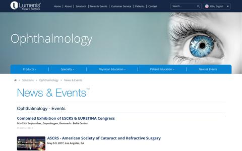 Ophthalmic News and Events | Lumenis Ophthalmic Lasers