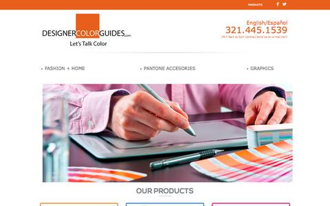 Screenshot of Products Page designercolorguides.com - pantone color guides - captured Jan. 3, 2017