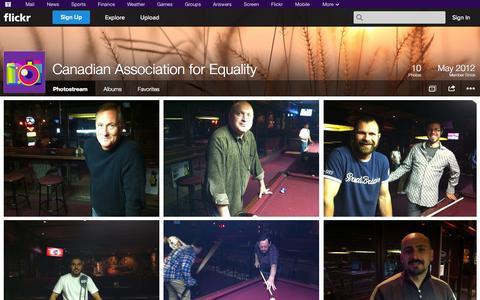 Screenshot of Flickr Page flickr.com - Flickr: Canadian Association for Equality's Photostream - captured Oct. 22, 2014