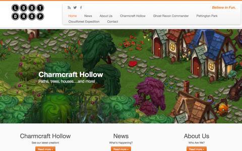 Screenshot of Home Page lootdrop.com - Loot Drop | Believe in Fun. - captured Oct. 3, 2014