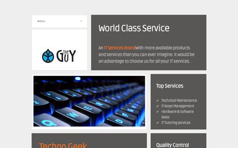 Screenshot of Home Page theguy.co.za - THE GUY Ltd - captured Oct. 9, 2014