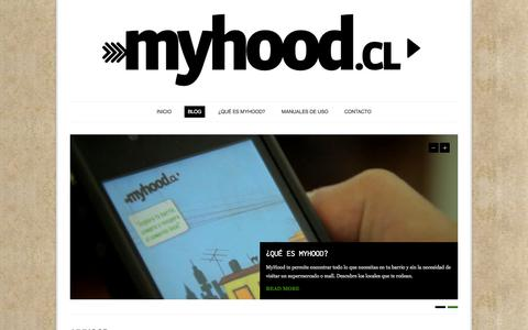 Screenshot of Blog myhood.cl - MyHood | Recuperemos el barrio y el comercio justo - captured Sept. 16, 2014